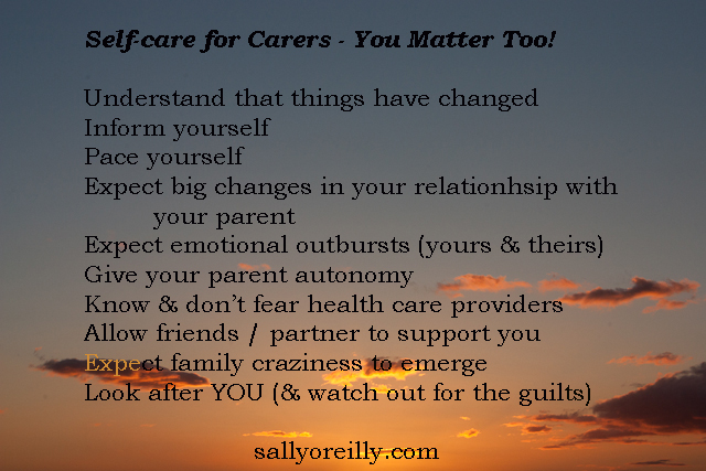 Self-care for the carer - because you matter!