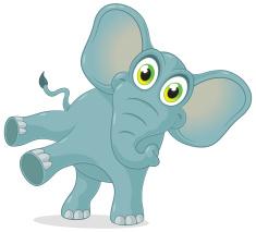 Blue Elephant Sally O'Reilly17516-happy-elephant-dancing